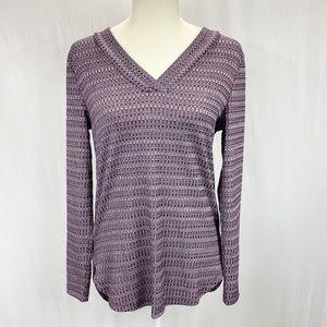 Women's purple Ann Taylor LOFT v-neck tunic